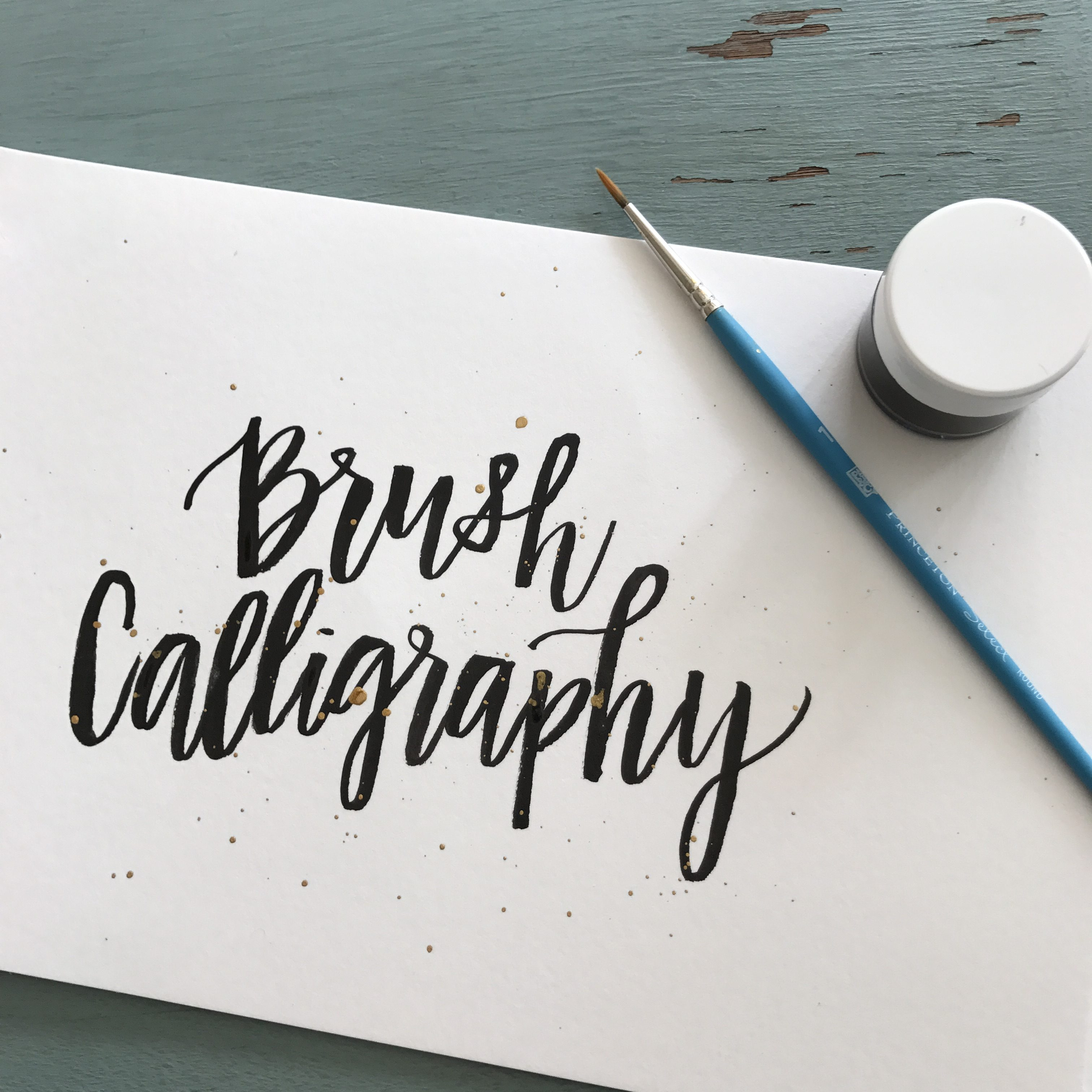 Brushstroke calligraphy wallingford paper delights